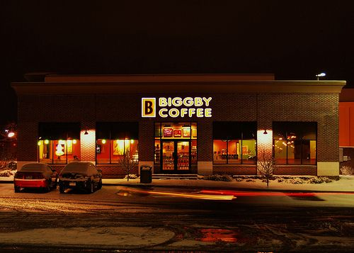 Biggby Coffee.  Like Starbucks, only better and more affordable.  Made in Michigan.