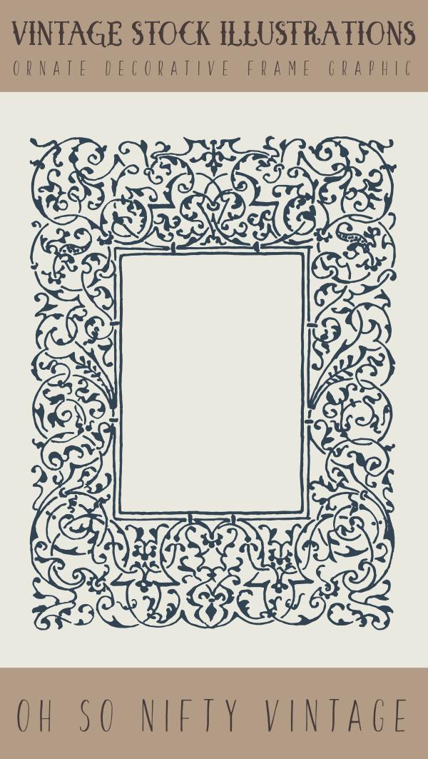 Vintage Stock Illustrations | Ornate Decorative Frame Graphic - http ...
