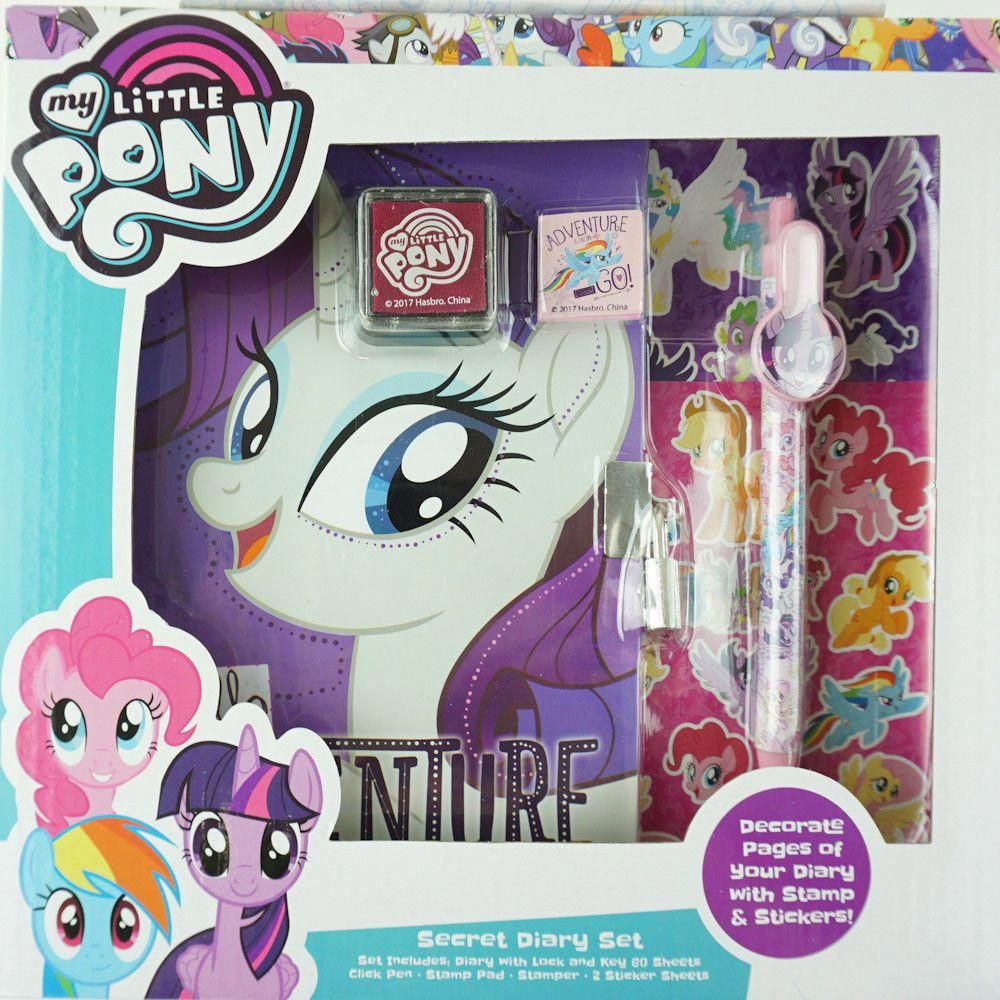 a0241a3f923 My Little Pony Girls Secret Diary with Lock Rarity Activity Toys Kids Girls   Hasbro  MLP  mylittlepony  rarity  diary  unicorn  felttoys