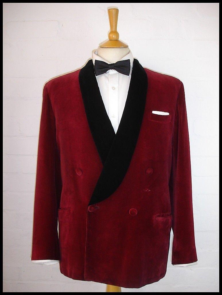 Velvet jacket vintage grosgrain Ribbon m89gy