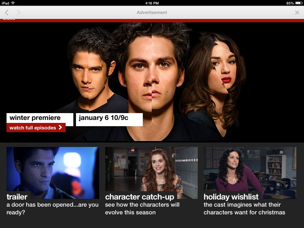 MTV.com/teenwolf