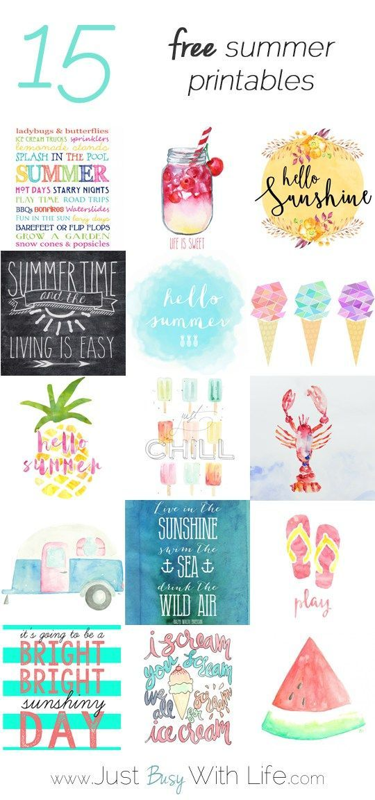15 Free Summer Printables Just Busy With Life Free Printables