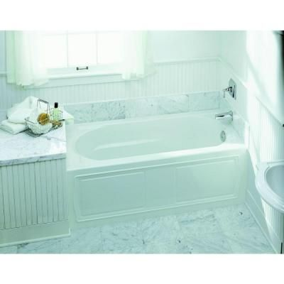 Right Hand Drain Integral April Tile Flange Bathtub In