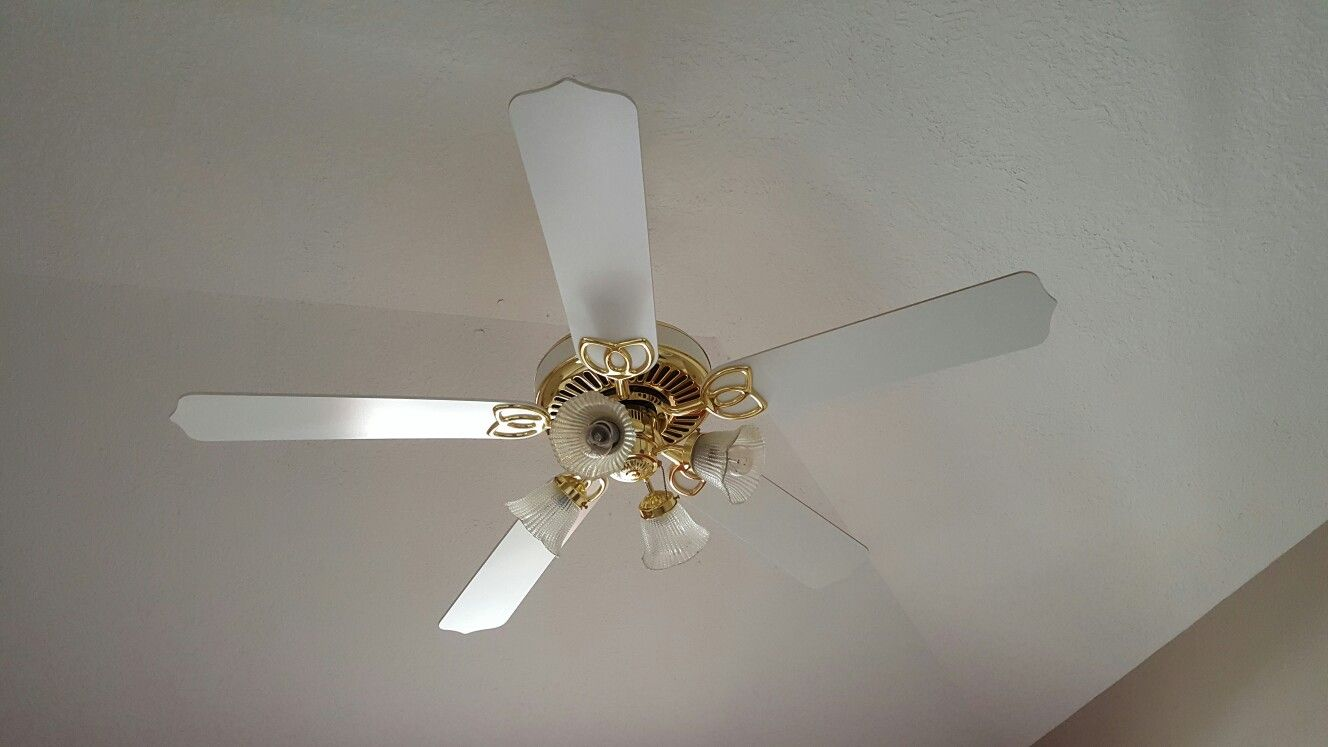 Charming Old Ceiling Fan In Guest Room