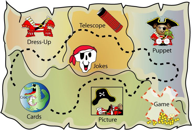 Pirate Map Menu/crafts/games | Pirate activities | Pinterest