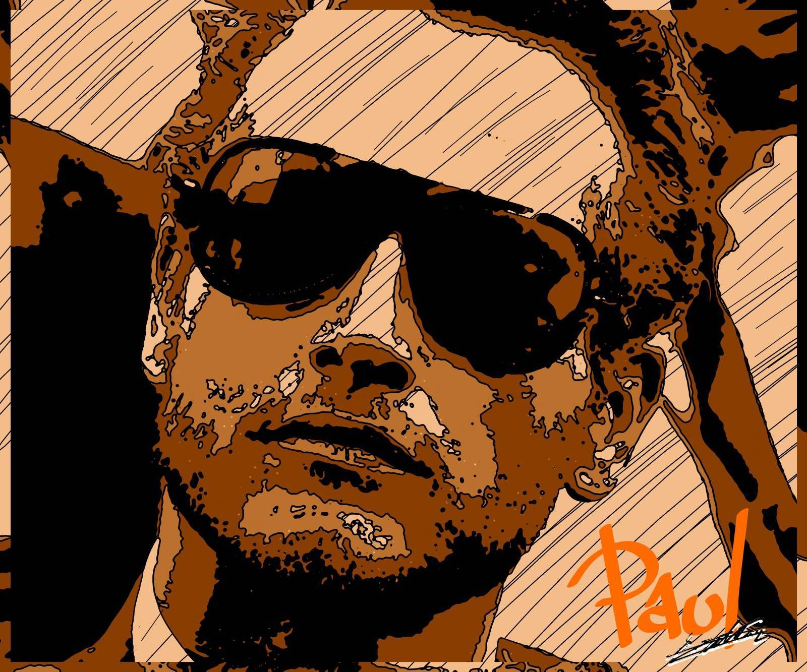 paul newman acteur star cin homme tableau pop art moderne peinture acrylique 70 39 s s pia. Black Bedroom Furniture Sets. Home Design Ideas