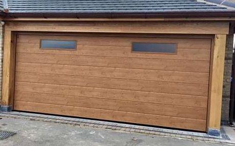 Hormann Winchester Oak M Rib Sectional Garage In 2019