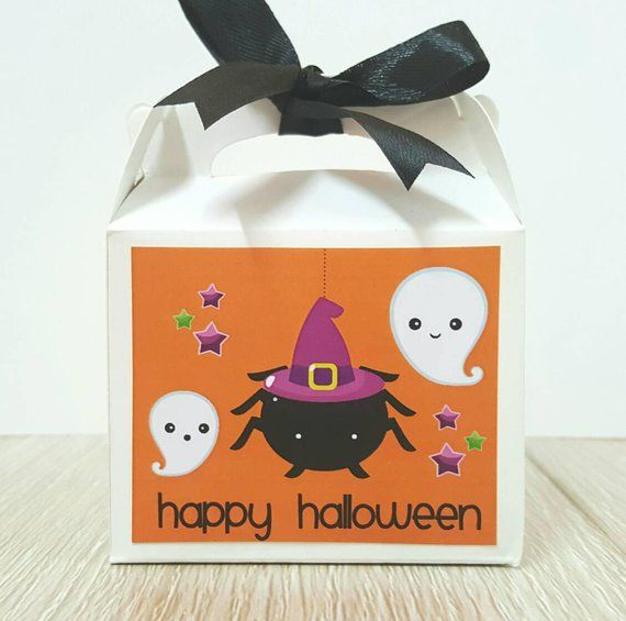 Halloween treat boxes   halloween treat bags   halloween favor boxes    halloween kids party favors 23e329687cf1