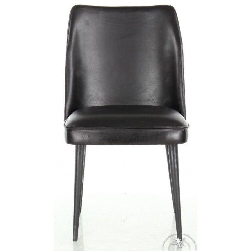 Chaise Design En Cuir Noir Pieds Noirs Mette Chaise Design Fauteuil Cuir Chaise Cuir