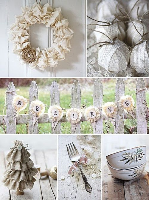 White Vintage Christmas Ideas for Decorating Navidad Pinterest - decoracion navidea estilo vintage