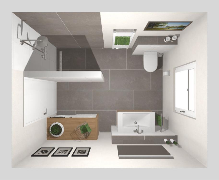 Das Bad mit ebenerdiger Dusche – 8 qm