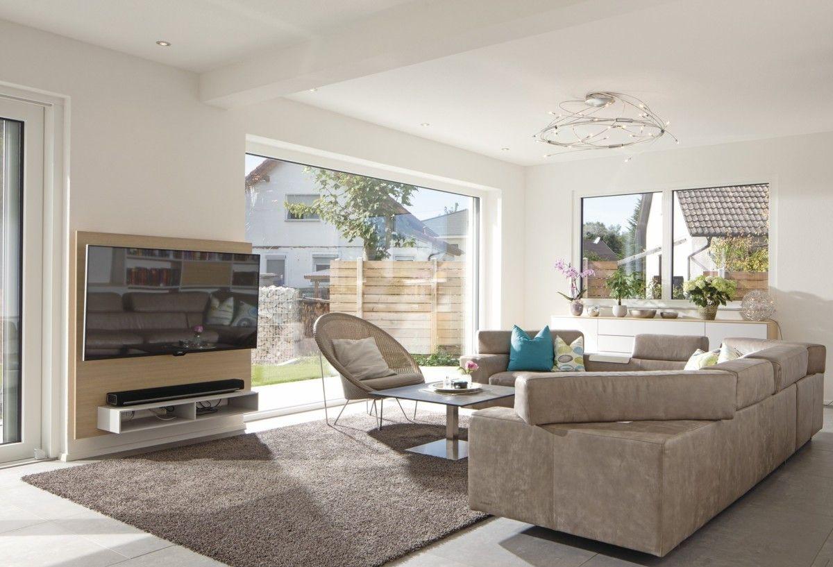 Modernes wohnzimmer mit ecksofa inneneinrichtung for Wohnzimmer inneneinrichtung