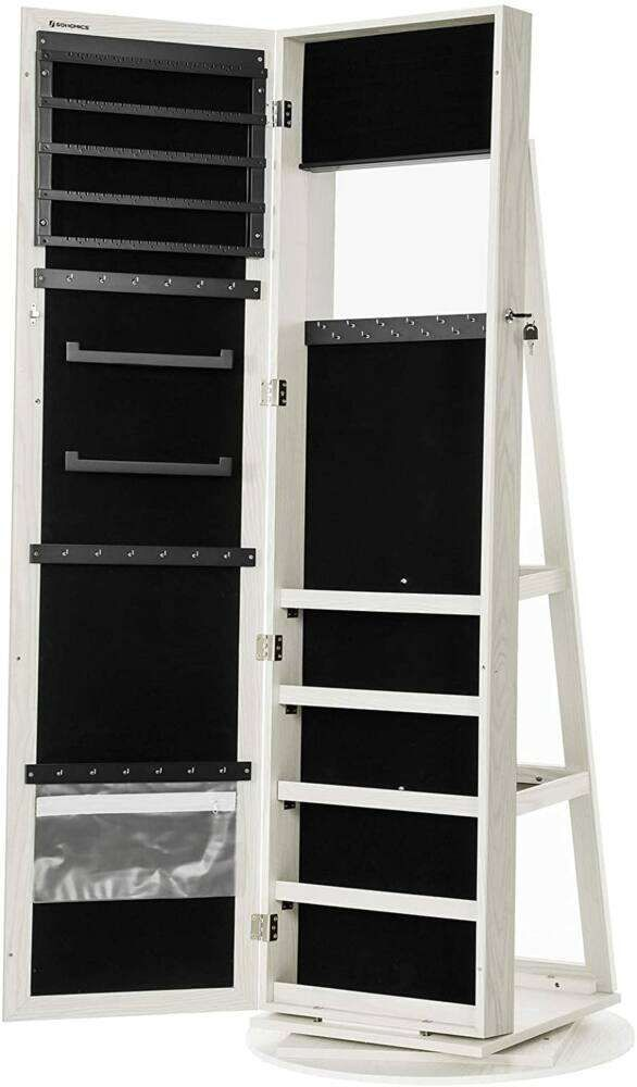 Jewelry cabinet with 360 ° rotating storage shelf