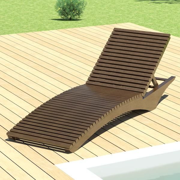 a lounge chair or sun chair designed for outdoor placement in a garden hotel swimming pool deck or tourist resort based in a real furniture element by - Swimming Pool Deck Chairs