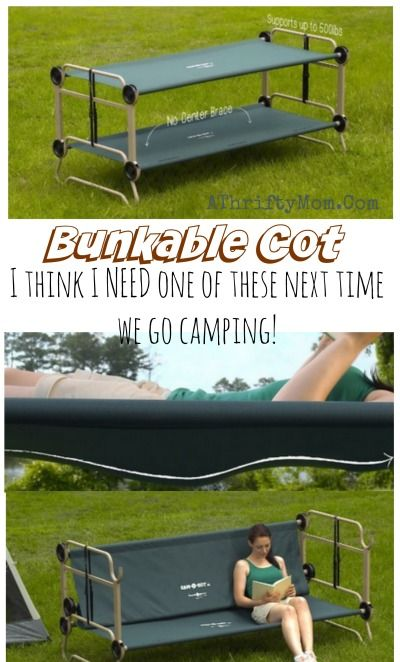 Portable Bunk Bed Cot Perfect For Camping And Hunting Kid Stuff