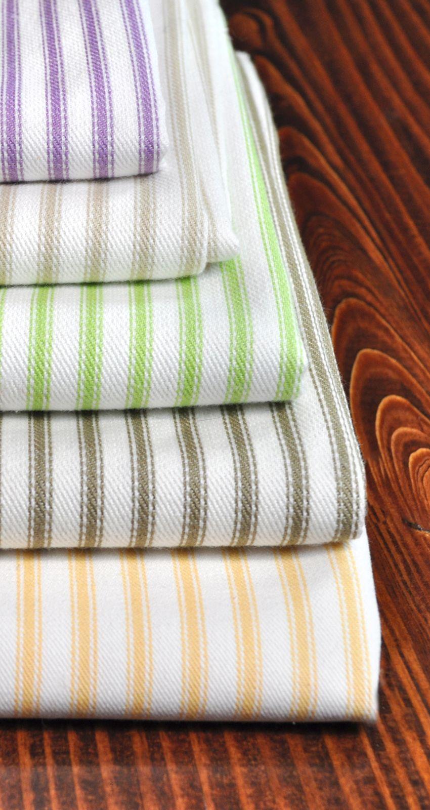 Colorful Covington Ticking fabric