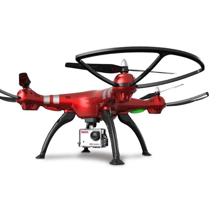 Syma X8HG RC Drone-REDBarometer Set Height  8MP Camera  360 Degree Flip 2.4GHz 4 Channel 6 Axis Gyro Quadcopter