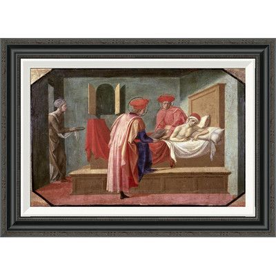 Global Gallery 'St. Cosmas and St. Damian Caring For a Patient' by Francesco Pesellino Framed Painting Print Size: 2