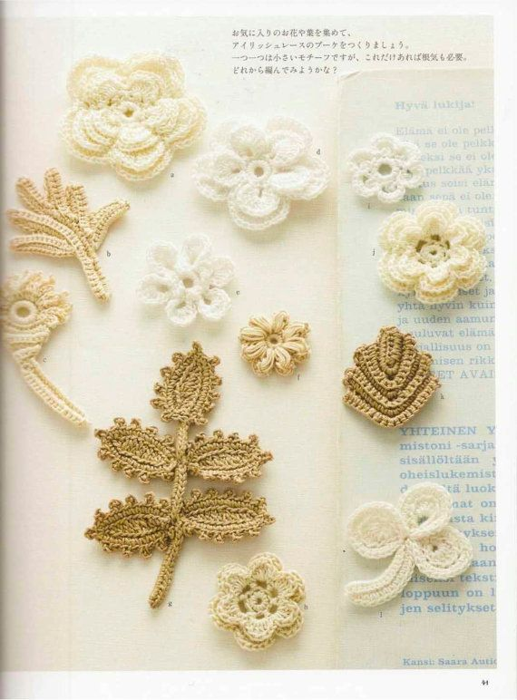 Irish Crochet Lace Japanese Crochet Book PDF, Irish Motif Crochet ...
