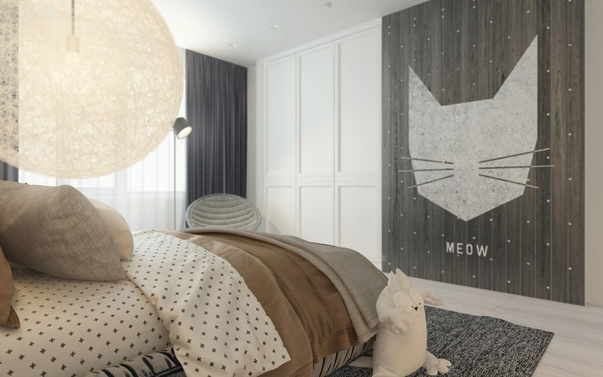Interior design of children's bedroom a pair of childrens bedrooms with sophisticated themes  现代前卫