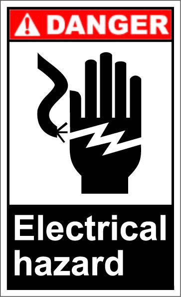 Electrical hazard $1.64 #signs   Arbeitssicherheit