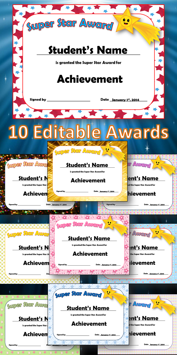 editable awards and editable certificates firstgradefaculty com