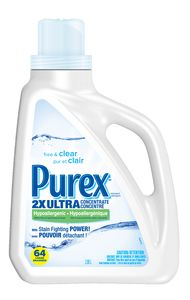 Purex 2x Ultra Concentrate Laundry Detergent Hypoallergenic Free
