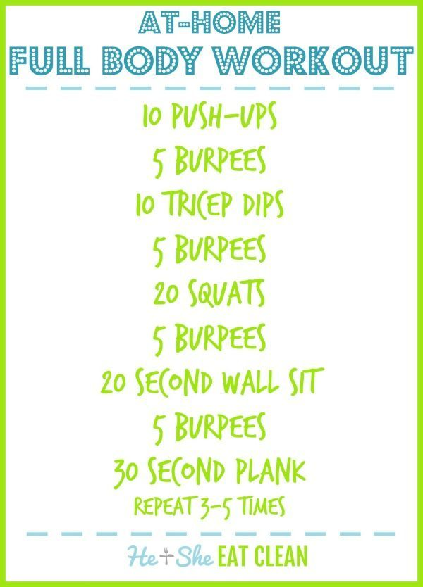 Full Body Workout {At-Home} -  Full Body Workout {At-Home} | He and She Eat Clean #fitness #workout...