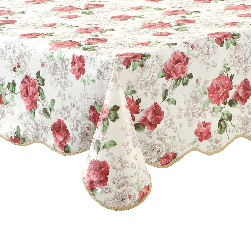 Ennas Cz017 Flannel Backed Vinyl Tablecloth Waterproof Oblong Rectangle 54 Inch By 72 Inch Oblong Rectangle Vinyl Tablecloth Picnic Tablecloth Table Cloth