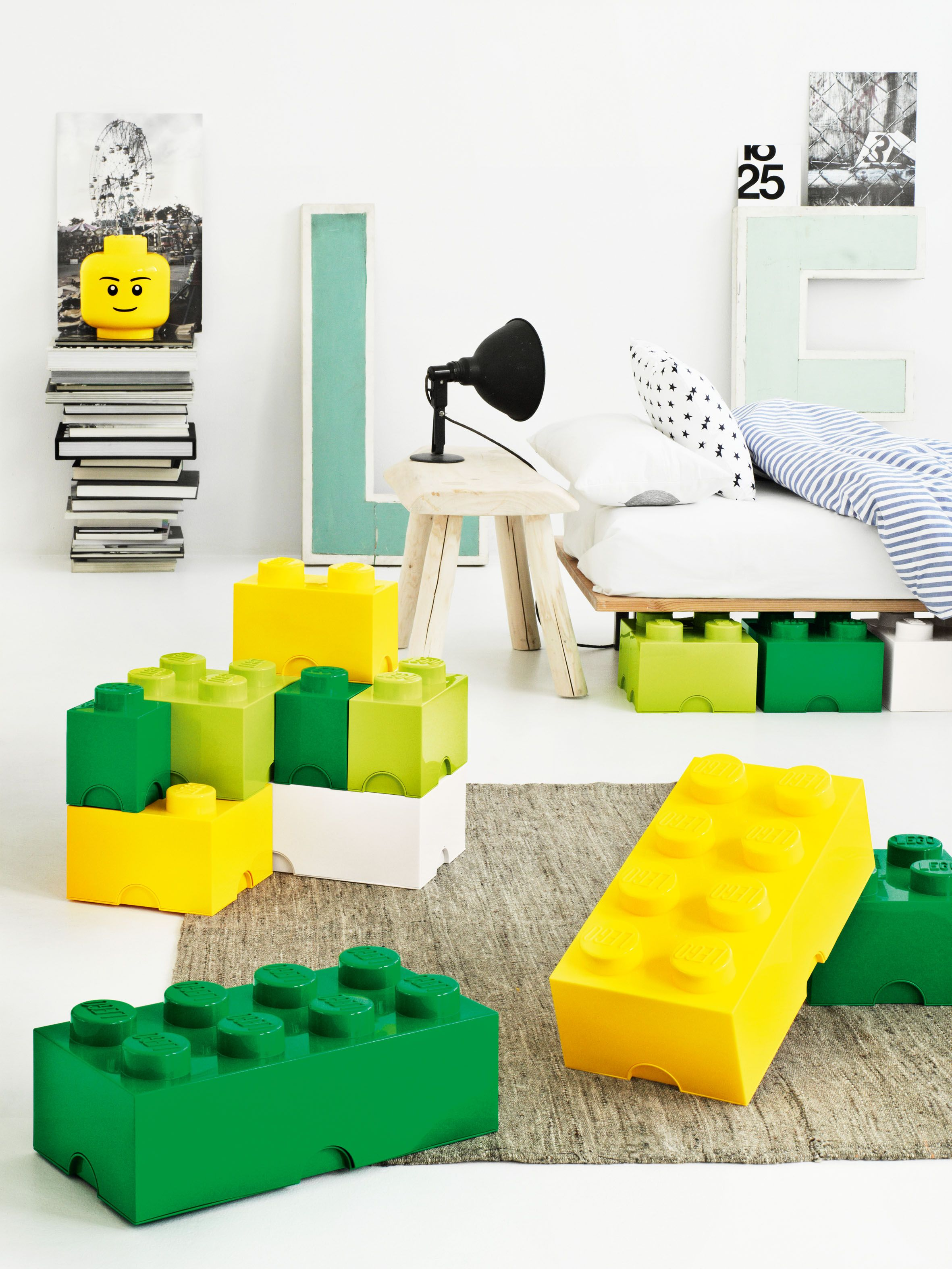 Giant Lego Storage Bricks // combine and match them for a surreal ...