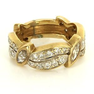 Vintage 14 Karat Yellow Gold Diamond Pinky Stack Band Ring Fine Estate Jewelry $695