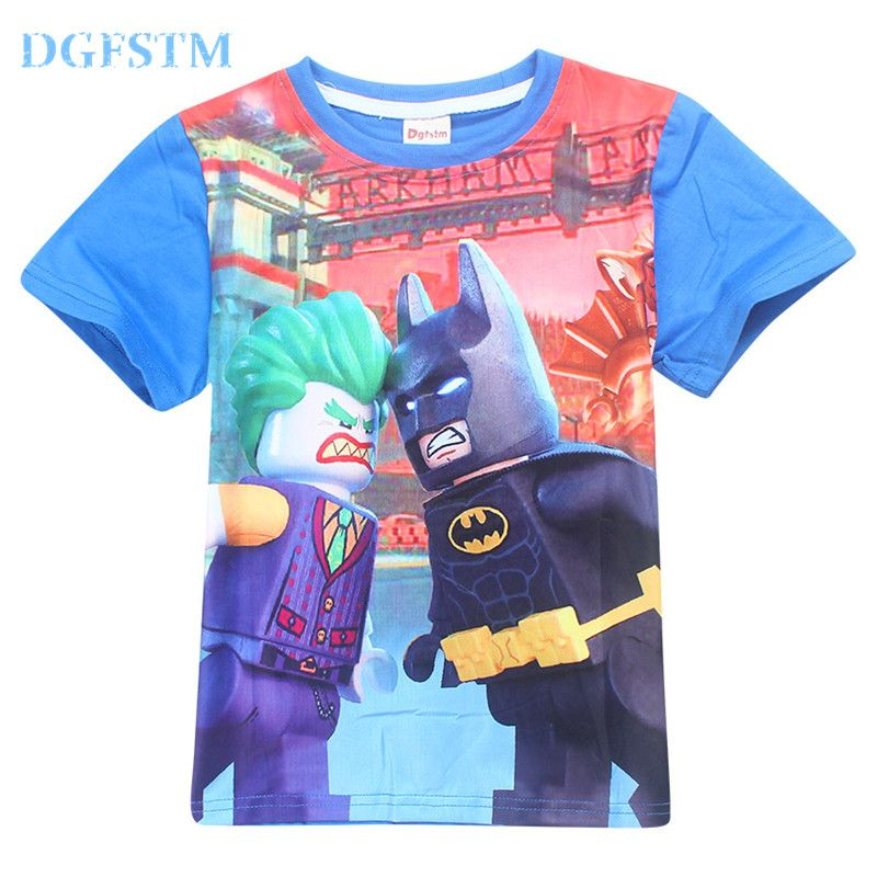 2017 summer childrens clothing baby boys girls t shirt ninja ninjago cartoon cotton t - Vetement Ninjago