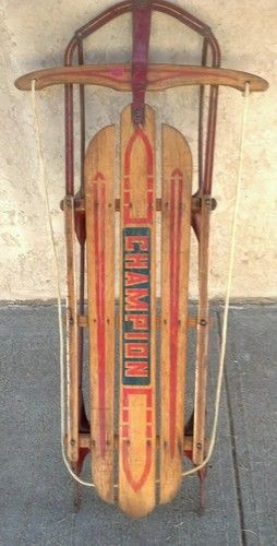 Details About Vintage Ram S Head Child S Sled Snow Sleigh