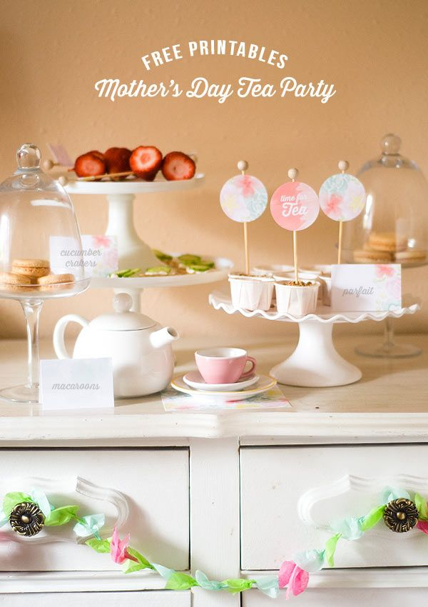 Confetti Sunshine Mother\u0027s Day Tea Party  Free Printables Get