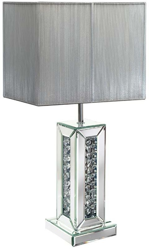 Pharmore Rhombus Silver Mirrored Table Lamp
