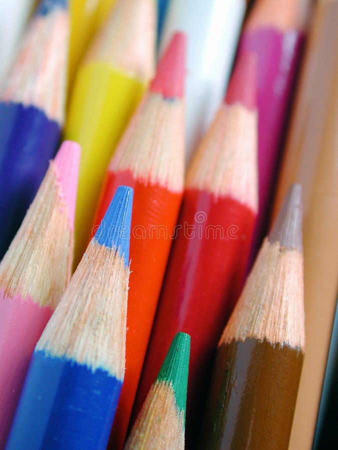 Pencil crayons Macro of colorful pencil crayons with shallow depth of field