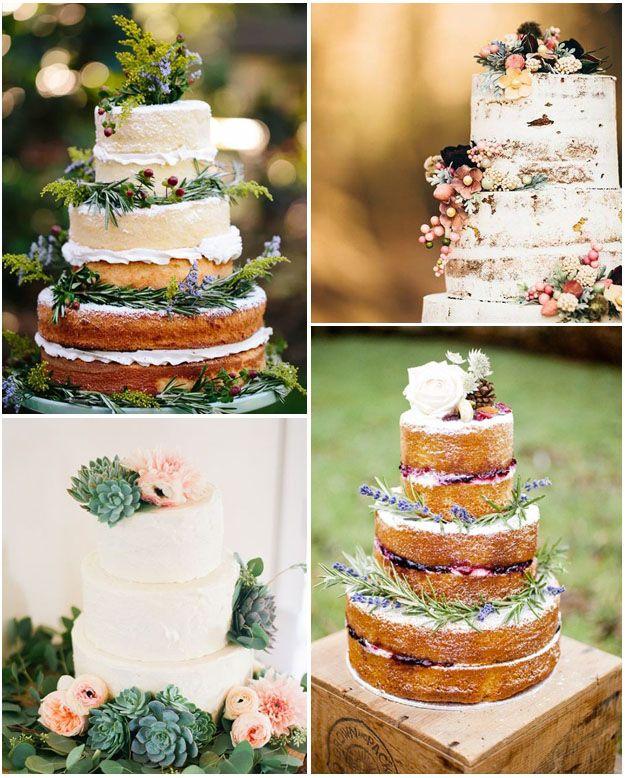 Mariage bohème chic  idées tendances pour wedding cakes