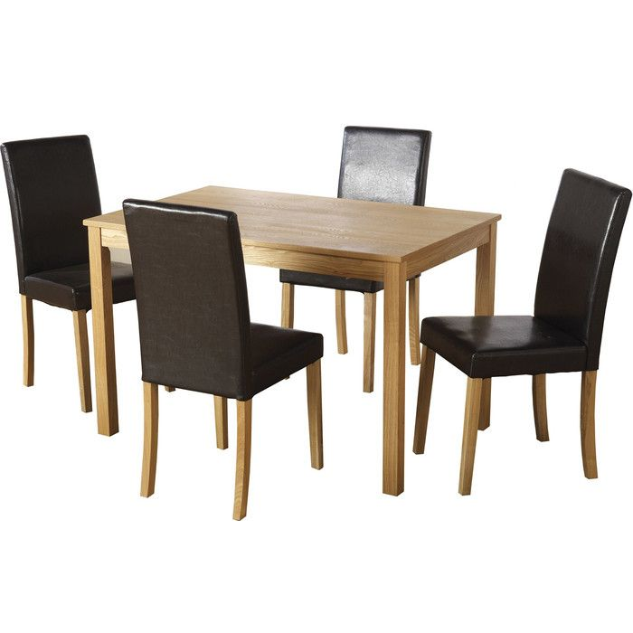 Wasdale Dining Set With 4 Chairs Dining Table Wooden Dining