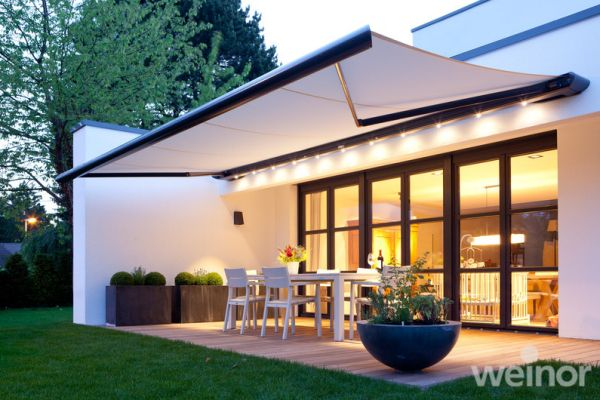 Retractable Patio Awnings For The Home Full Semi Open Cassette Patio Shade Garden Awning Outdoor Awnings