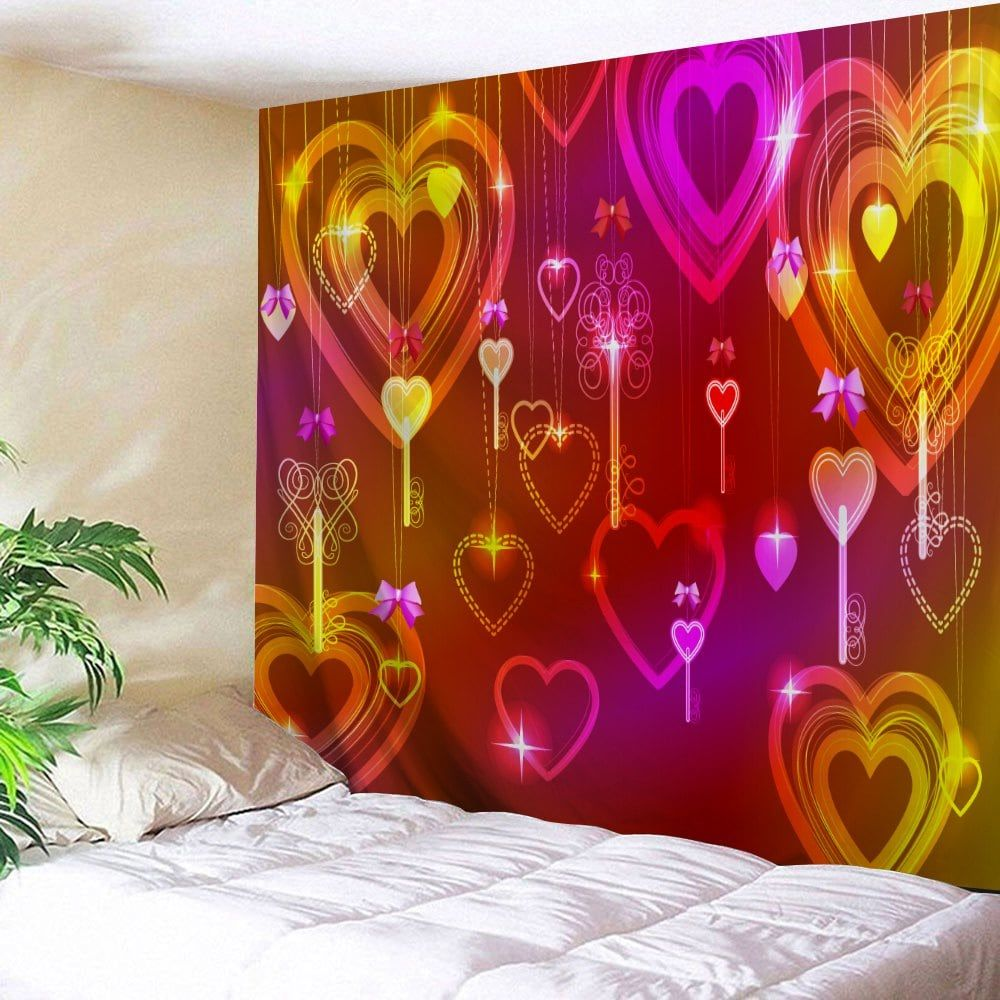 valentine s day hearts print tapestry wall hanging decor on walls coveralls website id=23755
