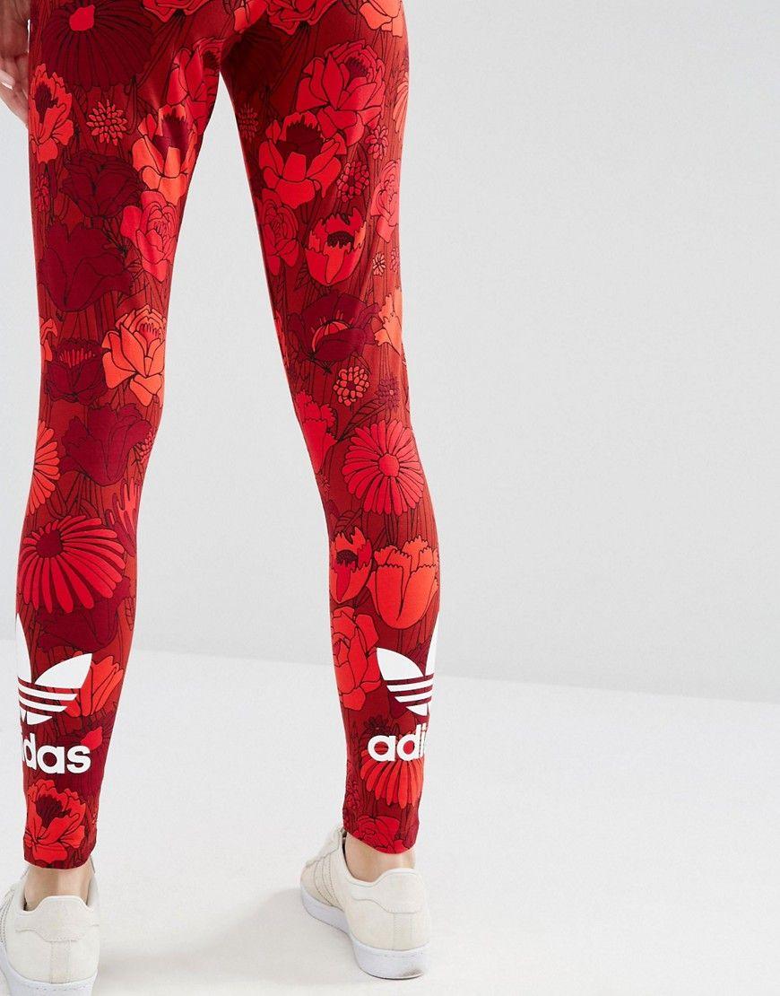 db95c2330f98f adidas Originals Floral Leggings With Trefoil Logo | sports style ...