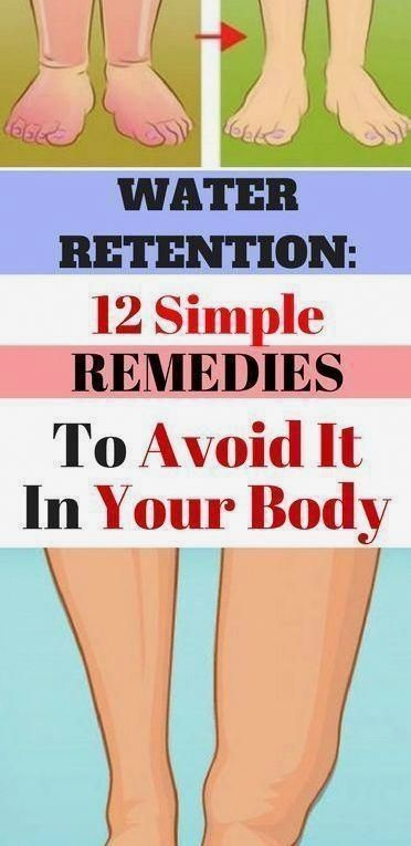 12 Simple Remedies To Avoid Water Retention In Your Body - Viral Health #Be