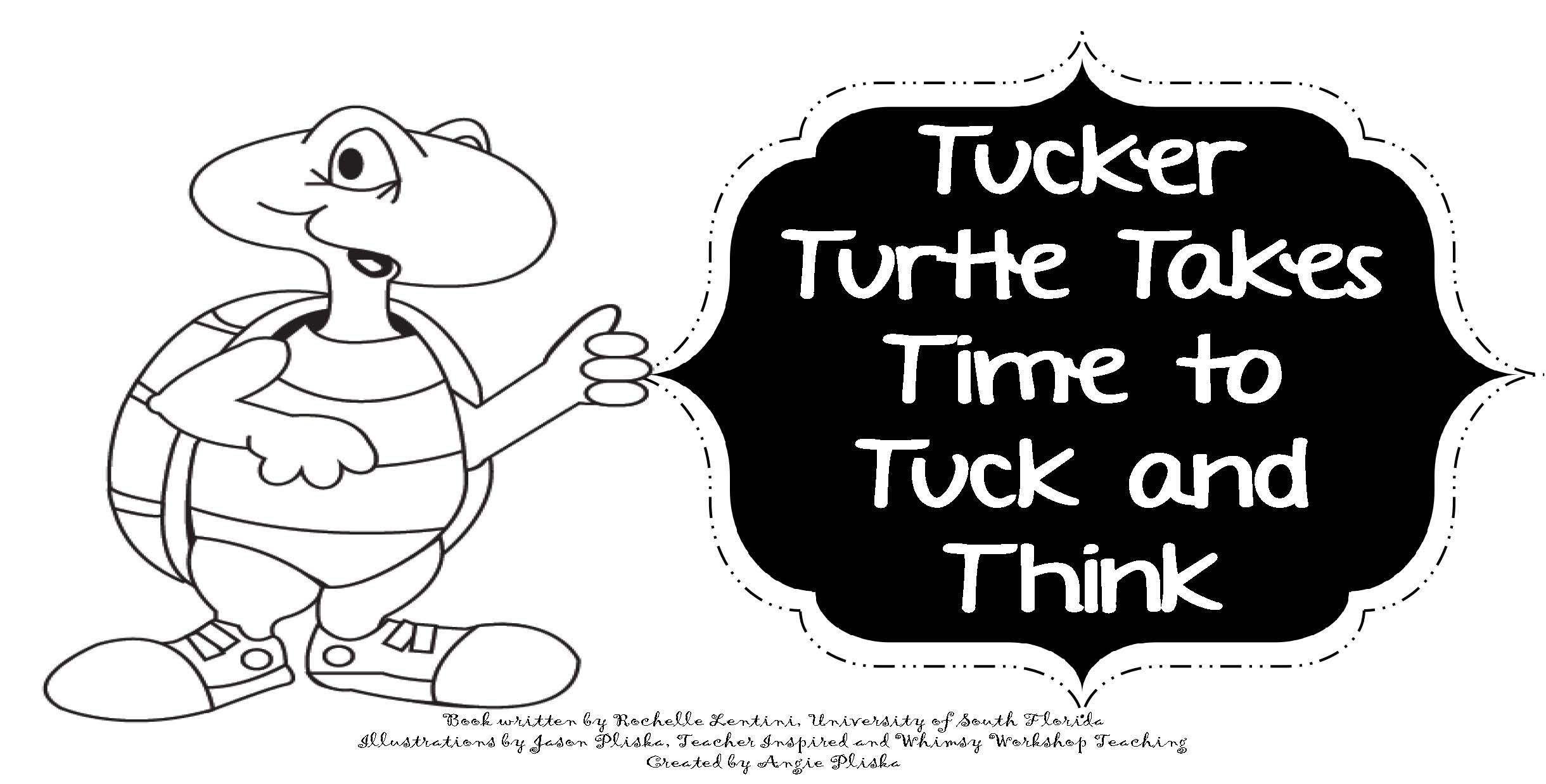Tucker Turtle printable coloring