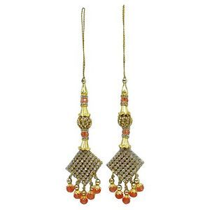 Decorative Indian Blouse Latkans Tassels Beaded Accessories Sewing By 1 Pair
