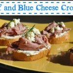 Appetizer Recipe – Beef and Blue Cheese Crostini #HolidayTips
