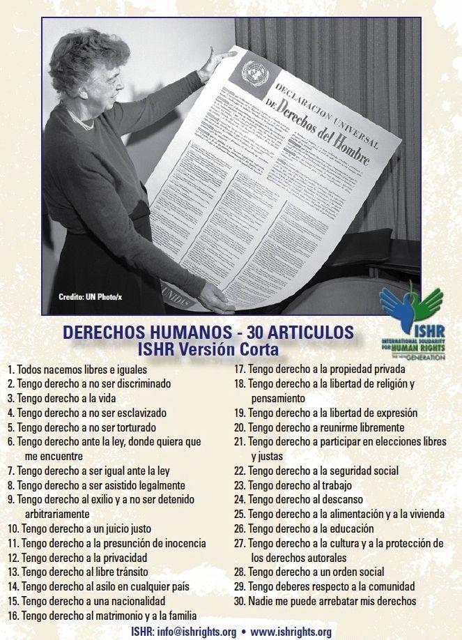 Derechos Humanos 30 Articulos Derechos Humanos