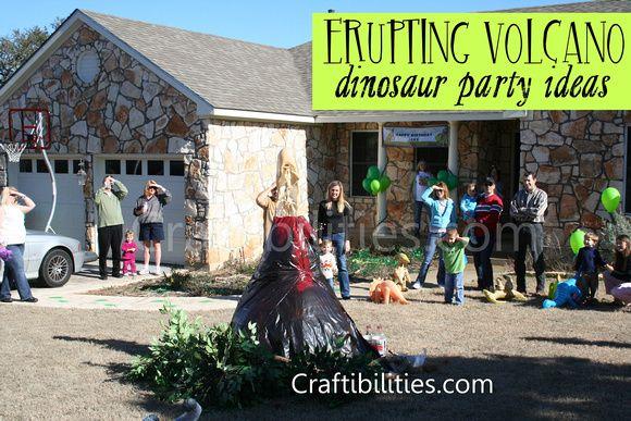 DINOSAUR Birthday Party Ideas DIY 3ft ERUPTING Volcano Dino