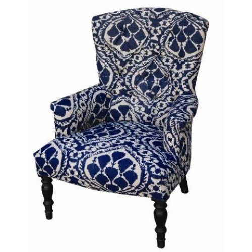 Attirant Image Detail For  Blue Ikat Chair