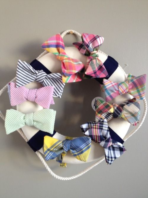 Fratastic. My daughter will have a bow holder and my son will have this for his bow ties. Adorable