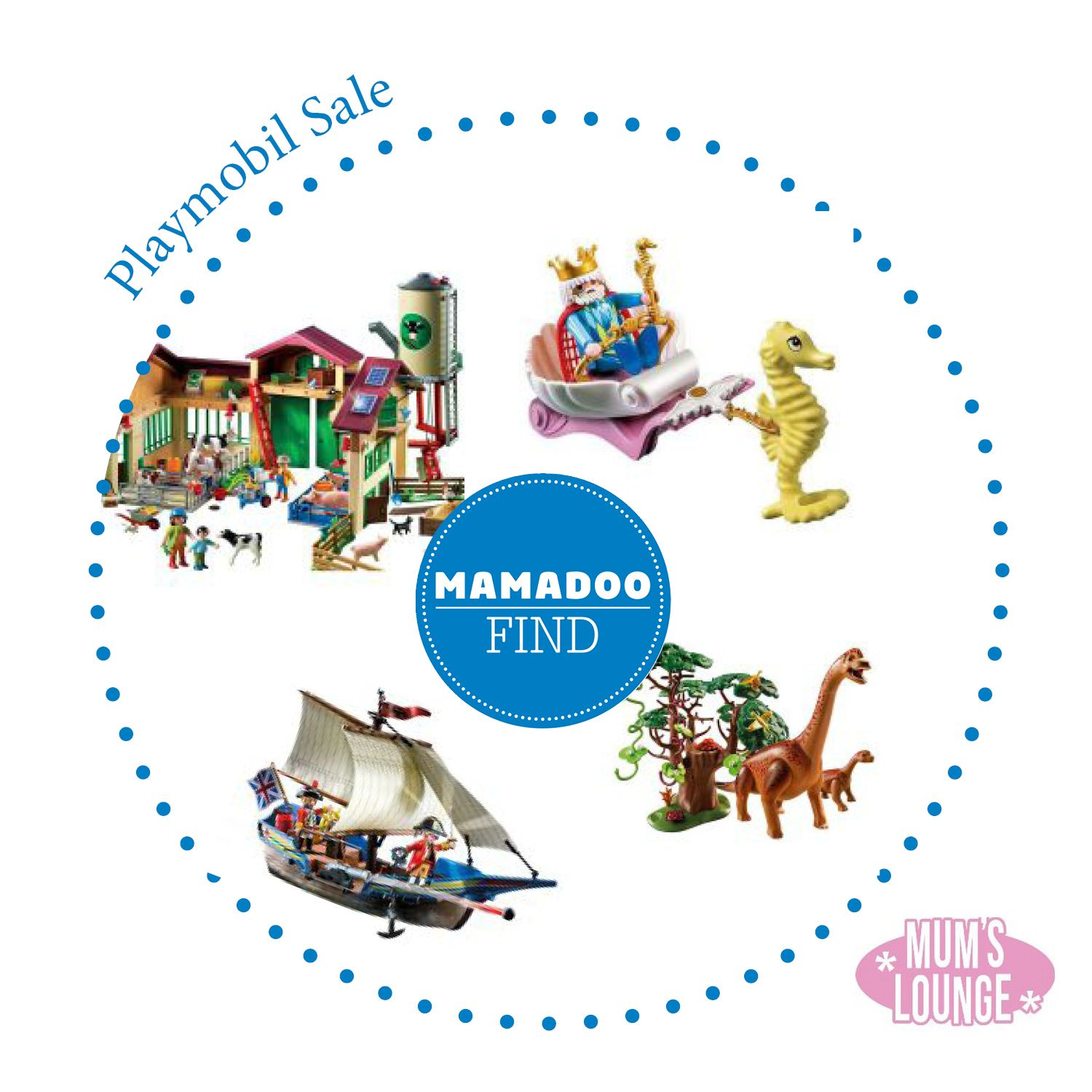 Up to 40% f a wide range of PLAYMOBIL toys over at MAMADOO NOW